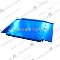 SCS岳阳双层电子地泵秤销售,3吨带框架结构电子磅