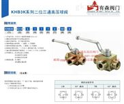 KHB3K-M16×1.5_外螺纹液压高压三通球阀