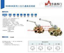 KHB3K-G1_内螺纹液压高压三通球阀