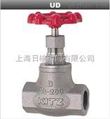 日本UD-UDM-10K丝口截止阀北泽铸铁截止阀全新进口