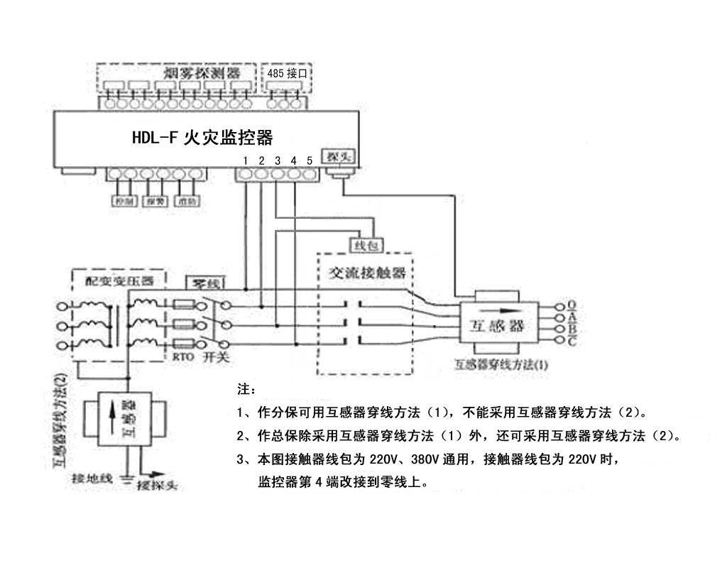 hdl-f剩余电流式电气火灾监控探测器 (分体式)《使用说明书》
