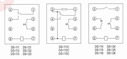 继电器具有一付瞬动转换触点和一付 延时动合主触点.