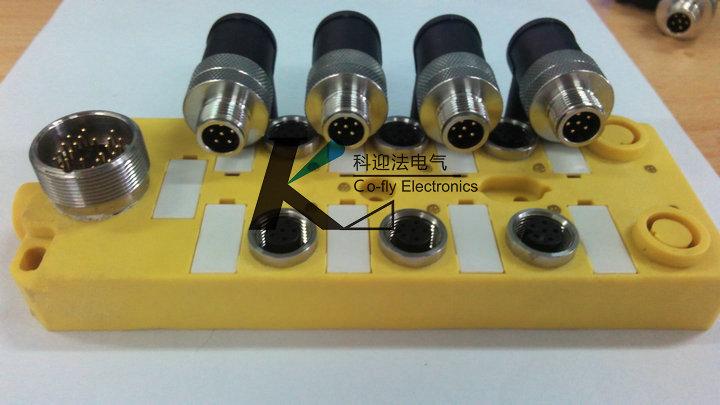 M12传感器接线盒插座式22芯,M12传感器插头6针6孔,M23全金属22芯插头