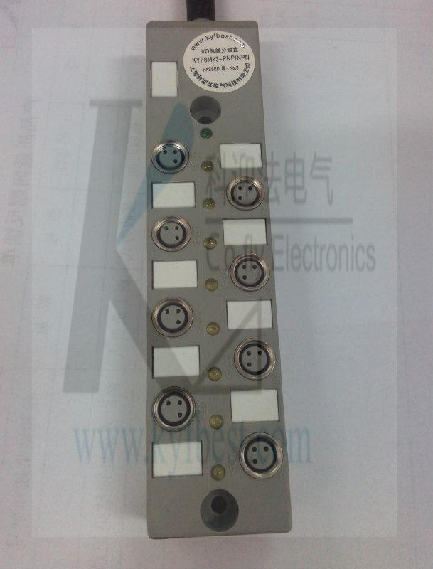 M8中央集线器单双信号-塑料(直接出线型) 产品说明:塑料外壳,分体式设计,,单信号或双信号,指示灯动作显示,IP68防护等级。     产品特点: ■ LED指示灯PNP,NPN可选 ■ 提供单路常开和常闭双信号 ■ 线缆长度及材质可选配 (科迎法是制造商,现场可根据用户需要生产)(特殊内部线路可接受定制)